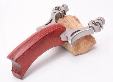 Stainless Steel Wood Handle II Slingshot | Lastik
