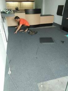 KARPET PEJABAT l tukar karpet baru tile carpet