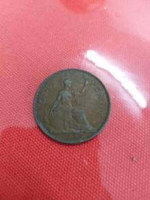 TEXP 1939 UK One Penny Coin Lama Vintage