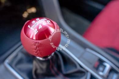 Mugen Leather Red Shift Knob FD2 FK2 FK8 EK9 Japan