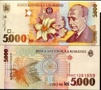 Romania 5000 lei 1998 p 107 unc