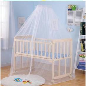 Katil bayi wooden baby cot 11