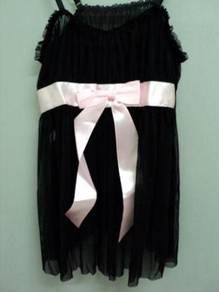 L521 Sexy Black Sheer Chemise Babydoll Sleepwear L