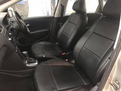 Polo semi leather seat cover