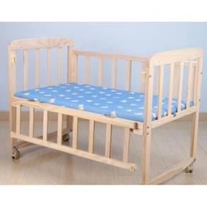 Katil bayi wooden baby cot 09
