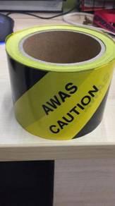Awas Caution Tape Black-Yellow