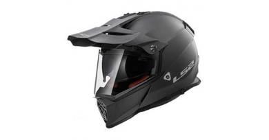 LS2 MX436 Pioneer Helmet Titanum Black - Used Once