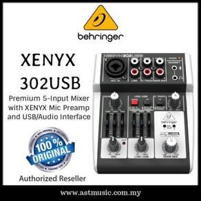 Behringer xenyx 302usb mixer audio interface