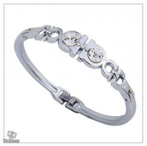 ABBSM-B002 Bangle Silver Plated Rhinestone Bracele