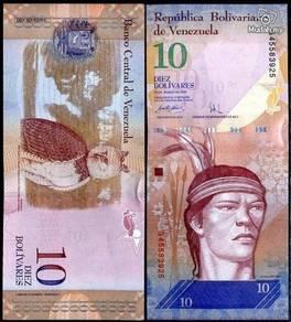 Venezuela 10 bolivares 2009 p 90 unc