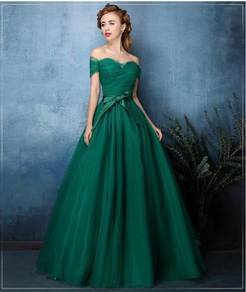 Green Tulle Wedding Gown Gaun pengantin wedding