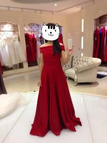 Red Bridal Gown Wedding Prom Dress