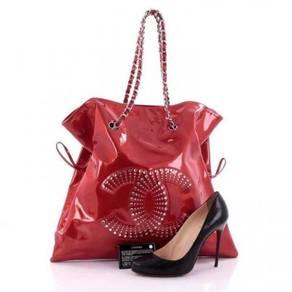 Chanel Bon Bon Tote Strass Embellished Patent Larg