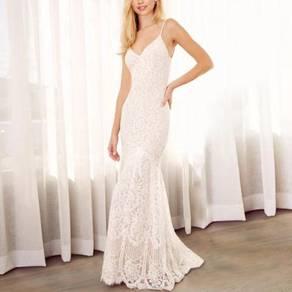 White boho evening prom dress gown RBP1340