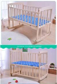 Katil bayi wooden baby cot 04
