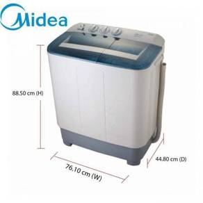 New-MIDEA 8kg Semi auto Washing machine MSW-8008P