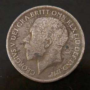 Duit Lama 1921 King Georgivs George One Penny