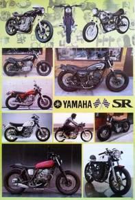 Poster YAMAHA SR400 SR500 1978-99