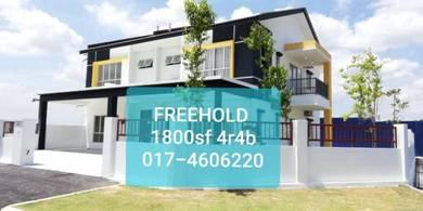 Freehold New 2 Storey 20x60, 4r4b, with HOC Rawang Selayang Batu Caves
