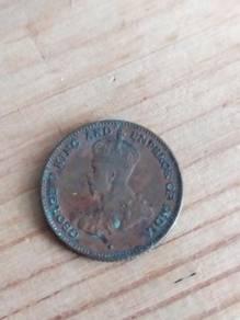 TEXP 1916 Straits Settlements 1/4 Cent Vintage 1