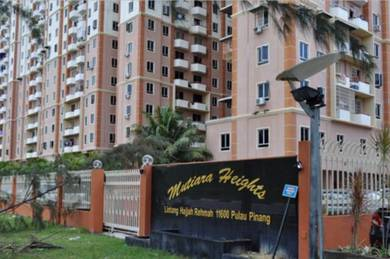 Apartment Mutiara Height Jelutong For Sale