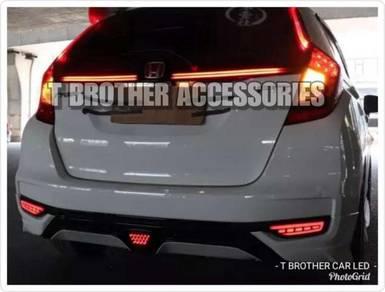 Honda jazz gk facelift reflector led rear bumper