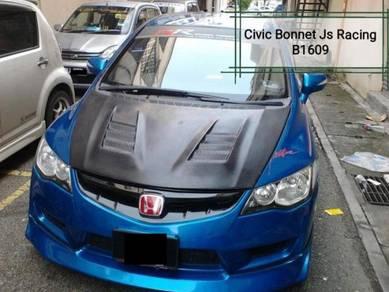 Honda Civic FD JS Racing Bonnet Fiber