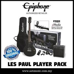 Les paul player pack ebony epiphone