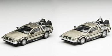 DeLorean DMC-12 Time Machine 1:43 toy 10cm 2pcs