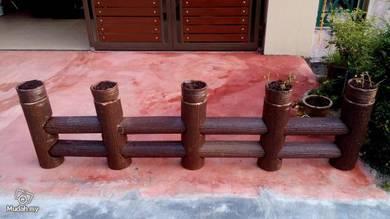 Ceramic pagar warna coklat