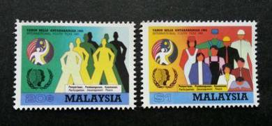 Mint stamp International Youth Year Malaysia 1985