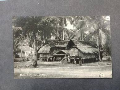 Postcard Malay Kampung 1930s PC 2796