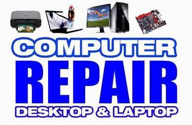 Komputer laptop format servis dan repair