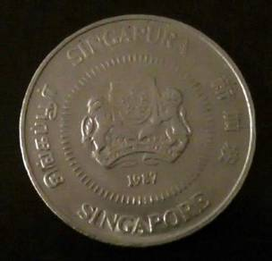Duit Lama 1987 Singapura Singapore 5 Cents