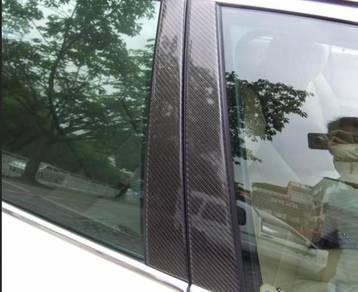 Bmw E90 Carbon Fiber B-Pillar Panel Sticker Set