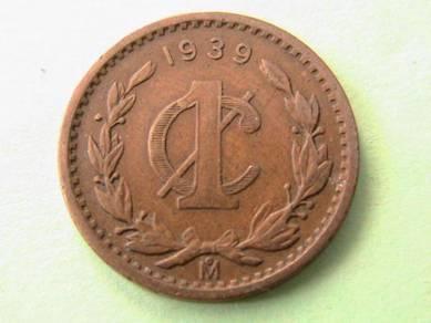 1939 Mexico 1 Centavos