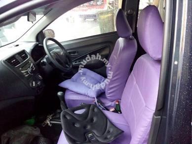 Perodua axia lec pu leather seat cover