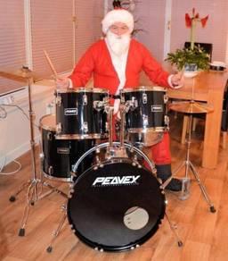 Santas Drum kit Complete 5 Drum Rock Kit