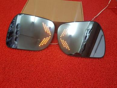 Jazz city blue side mirror lens with signal light