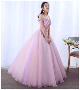 Pink prom wedding ball dress gown RB0807