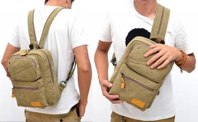 Stylish Dual-Use Man Casual Chest Bag Backpack