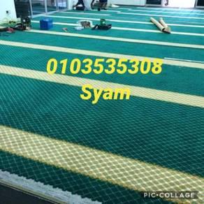 Karpet masjid hijau / biru / merah carpet bajet