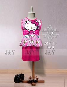 Hello Kitty 2pcs Peplum Mini Skirt set