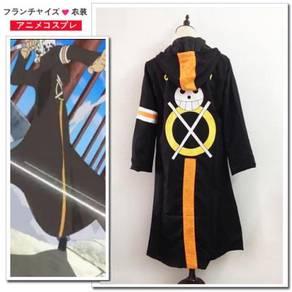 One piece trisfalgar law cosplay clock jacket