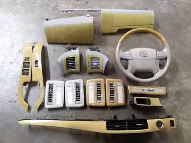Toyota Estima ACR50 Walnut Dashboard Panel Set