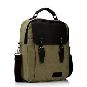 Alpha Helix Travel Bag Briefcase Backpack - Khakis