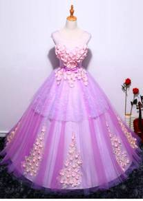 Purple wedding bridal prom dress gown RB0413