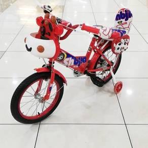 Basikal untuk kanak-kanak jb warna merah