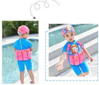 Baju Renang Kids Floating Swim Suit+Cap-MERMAID