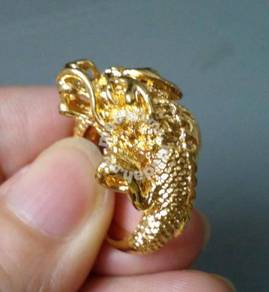 ABRGM-D005 Pretty Noble Shiny Dragon Gold Ring Sz9